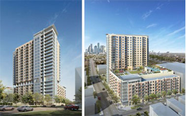 HOUSTON -- Construction is under way on The Sovereign, a 21-story, 290-unit  multifamily development located on the old Allen House Apartments site off  Allen ...